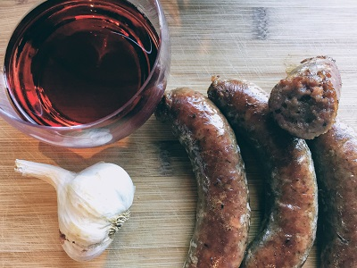 Beef Red Wine and Garlic Sausages - Drycreekmeats Online Butchery