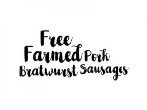 Free Farmed Pork Bratwurst Sausages - Drycreekmeats Online Butchery